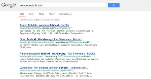 Suche bei Google nach Schöckl