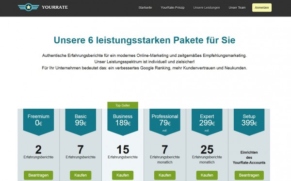 Pakete bei yourrate
