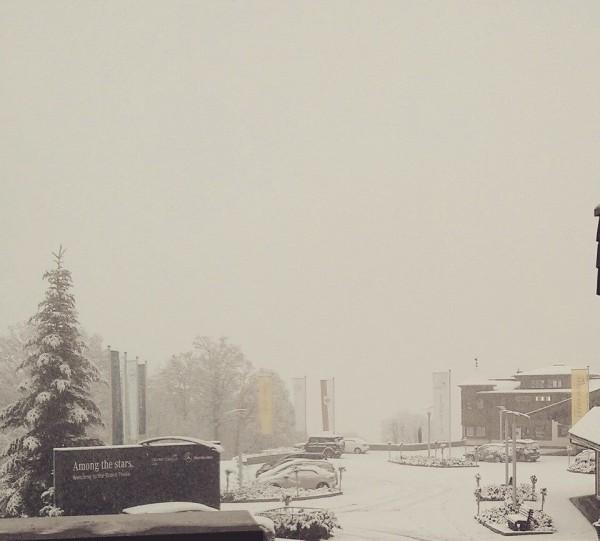 Wintereinbruch in Kitzbuehel