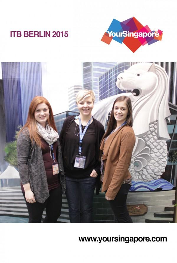 Daniela, Claudia und Melanie auf der ITB Berlin