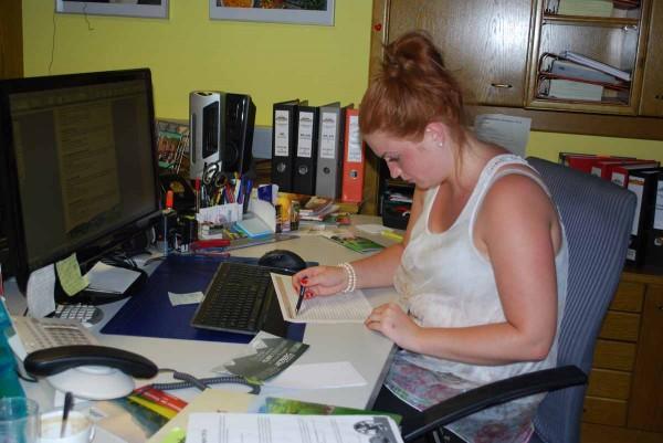 Daniela im Almenland Büro
