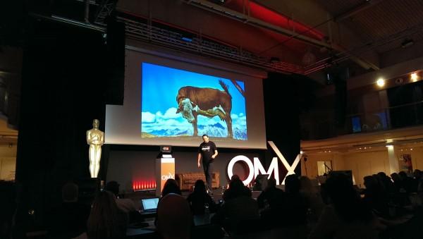 Karl Kratz auf der Bühne der OMX 2015