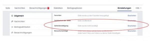 Seiten Verifizieren auf Facebook