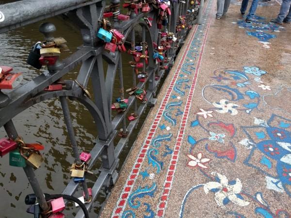 Liebesschlösser - Mahatma Gandi Brücke