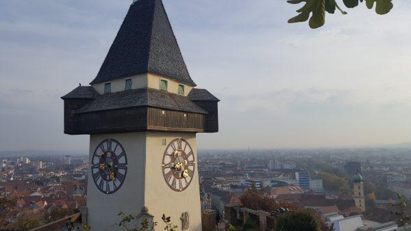 Grazer Uhrturm bei herrlichem Wetter nach dem World Usability Congress
