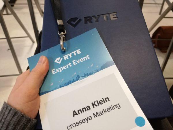 Anna beim Ryte Expert Event in München