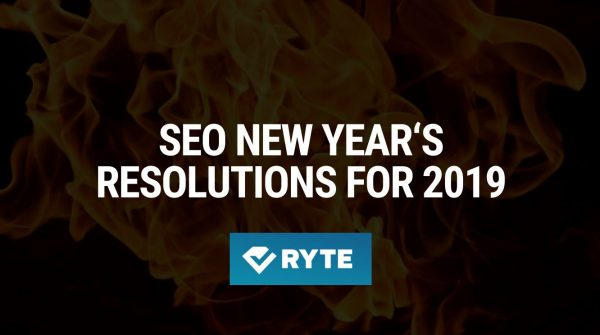 SEO New Year's Resolutions 2019