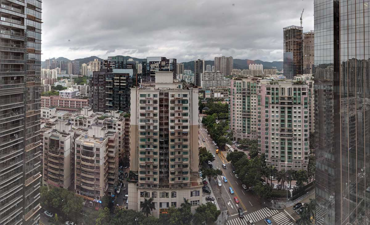 Shenzhen - Blick vom Hotel