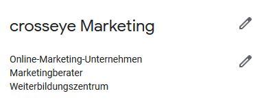 Screen Kategorien Google My Business