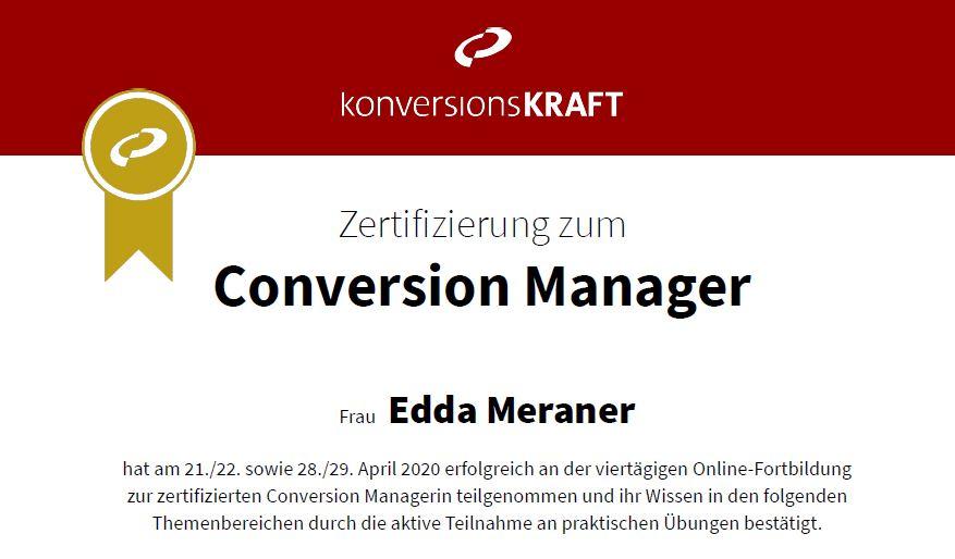 Zertifikat Conversion Manager