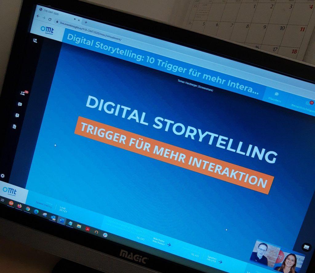 Digital Storytelling auf der OMT 2020