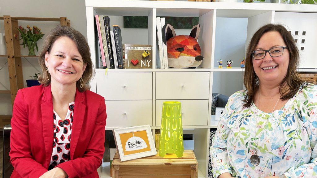 Doria Pfob & Evelyn Götz nach dem Interview für erleuchtenderzaehlt.at