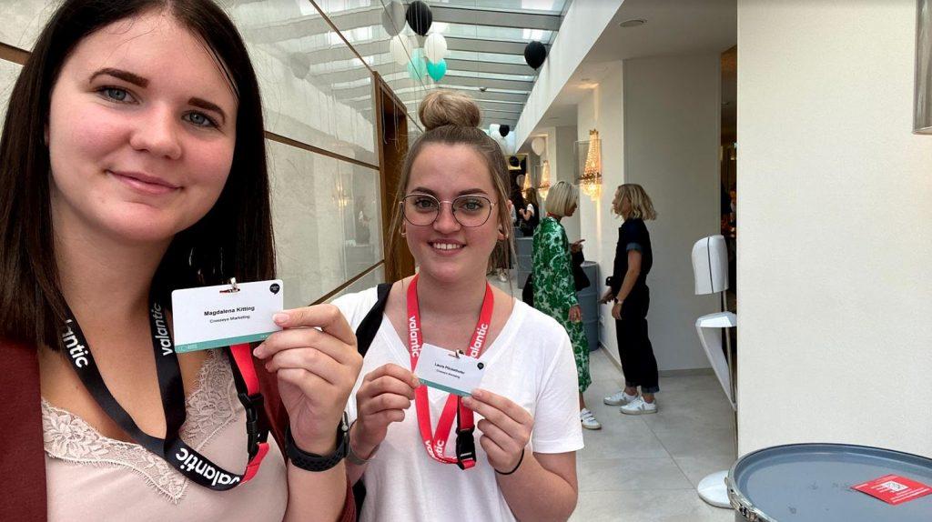 Laura und Magdalena am ContentDay in Salzburg